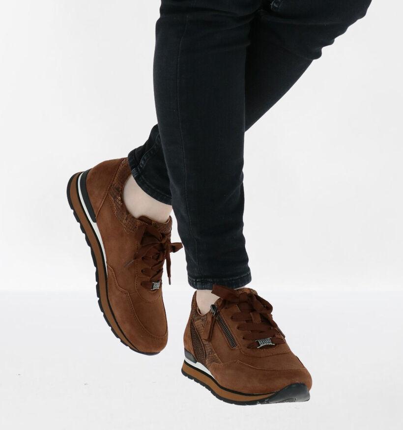 Gabor OptiFit Chaussures à lacets en Cognac en nubuck (282367)