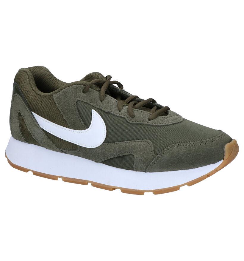 Donkerblauwe Sneakers Nike Delfine in daim (249770)