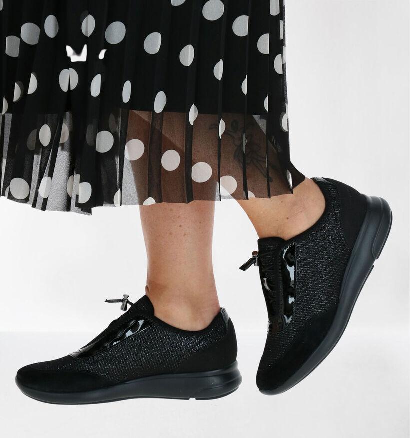 Geox Ophira Chaussures slip-on en Noir en simili cuir (277056)