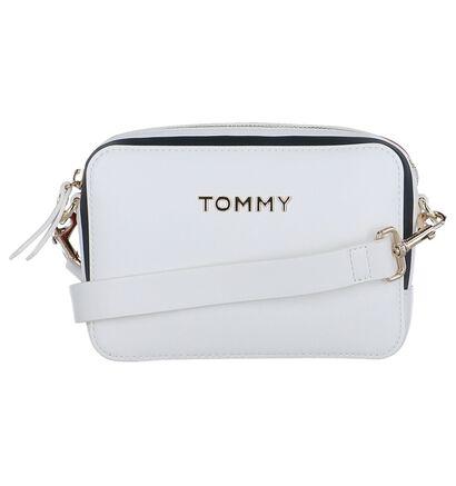 Witte Crossbody Tas Tommy Hilfiger TH Corporate in kunstleer (256526)
