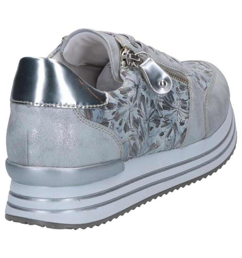 Remonte Zilveren Veterschoenen in leer (266875)