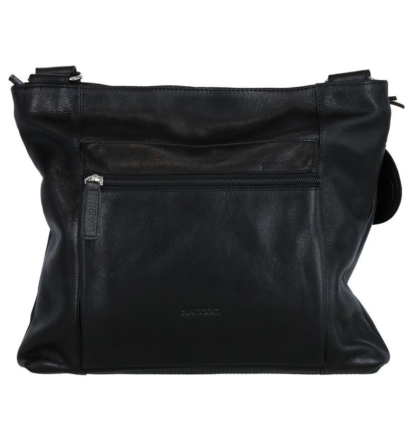 Saccoo Berjemo Sac porté croisé en Noir en cuir (283614)