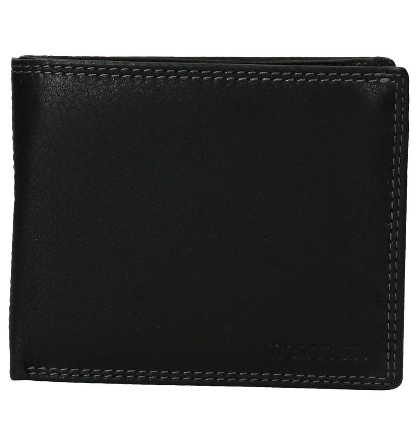 Maverick Zwarte Portefeuille in leer (273927)