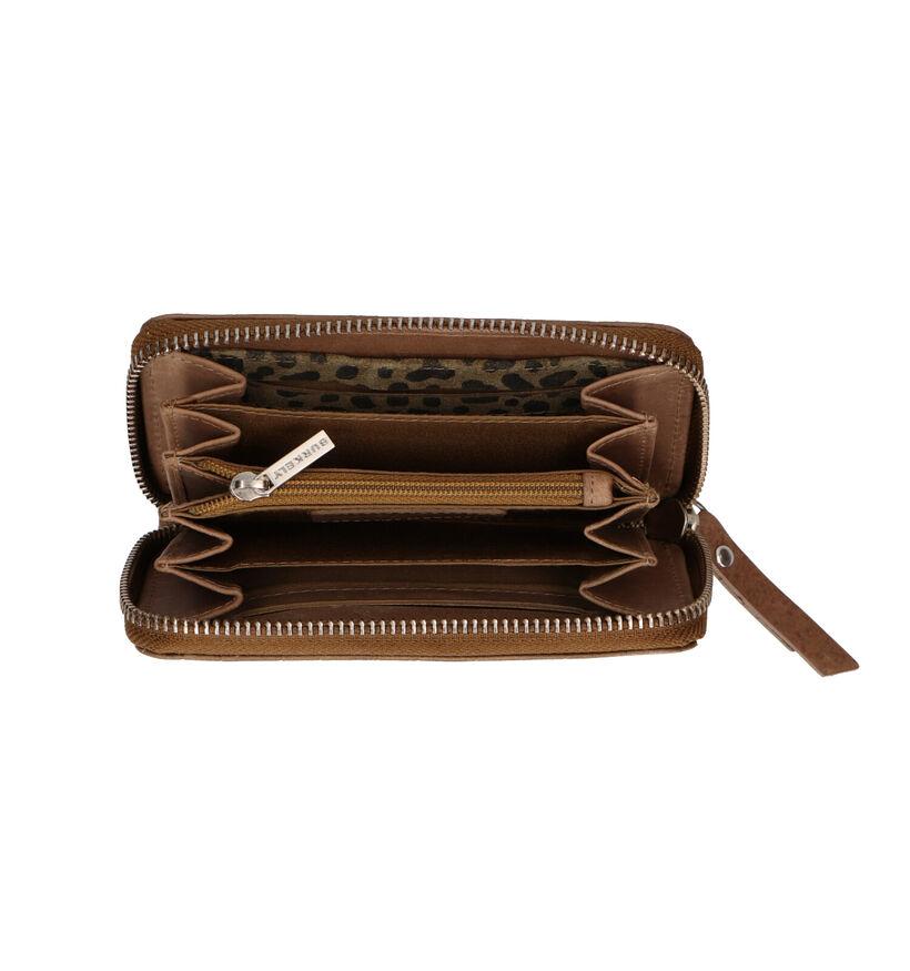 Burkely Croco Caia Porte-monnaie en Noir en cuir (297523)
