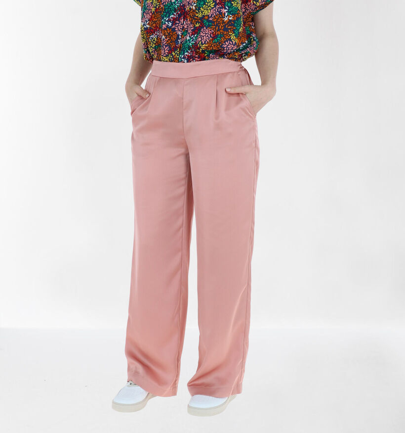 Vila Haiuka Pantalon Large en Rose (285987)