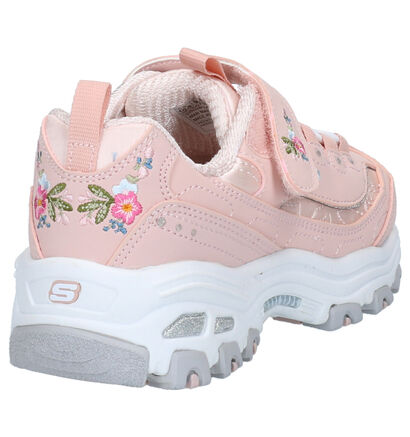 Skechers D'Lites Roze Sneakers in stof (263916)
