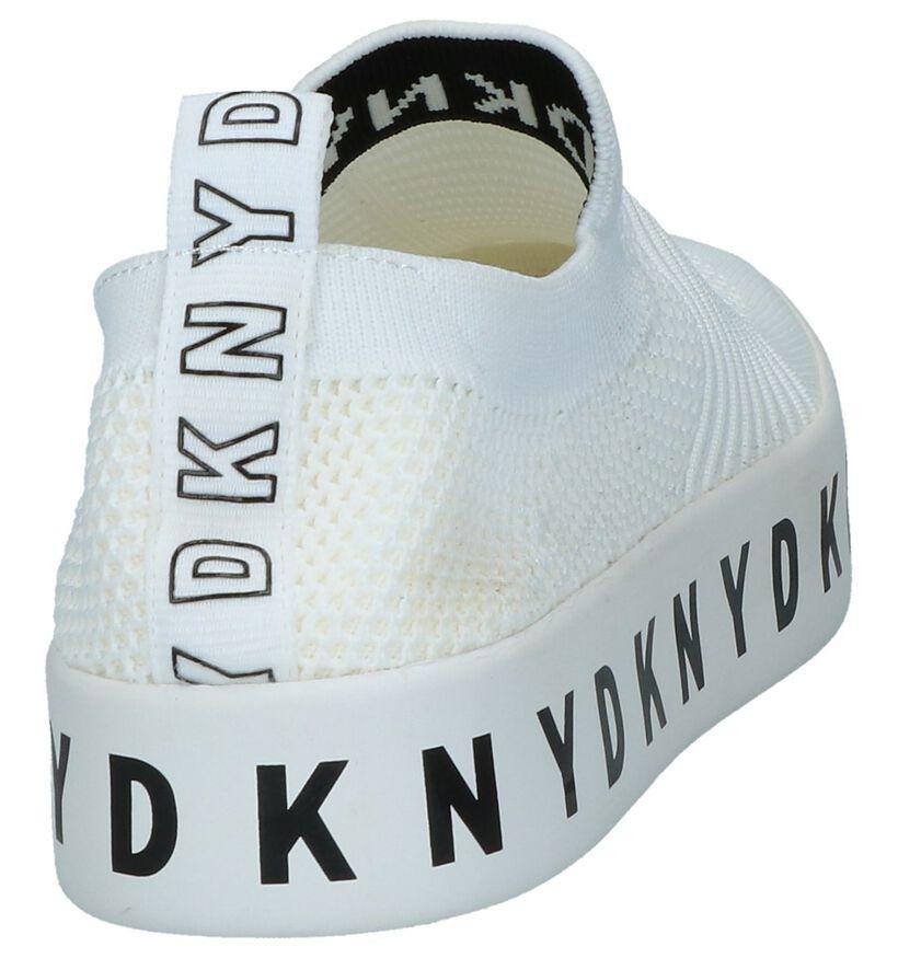 DKNY Baskets slip-on en Blanc en textile (238291)