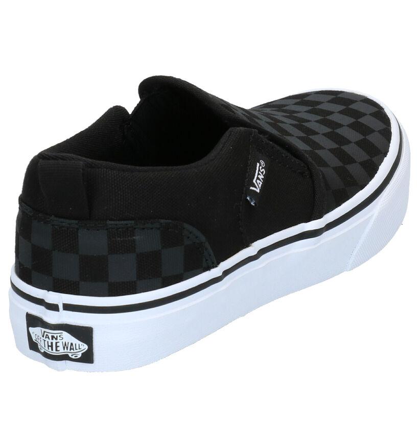 Vans Asher Baskets Skate en Noir en textile (266607)