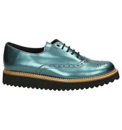 Eli Blauwe Oxford Shoes, Blauw, pdp
