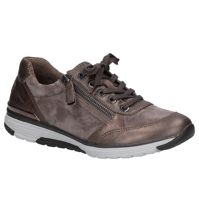 Gabor Rollingsoft Chaussures à lacets en Taupe en cuir (260106)
