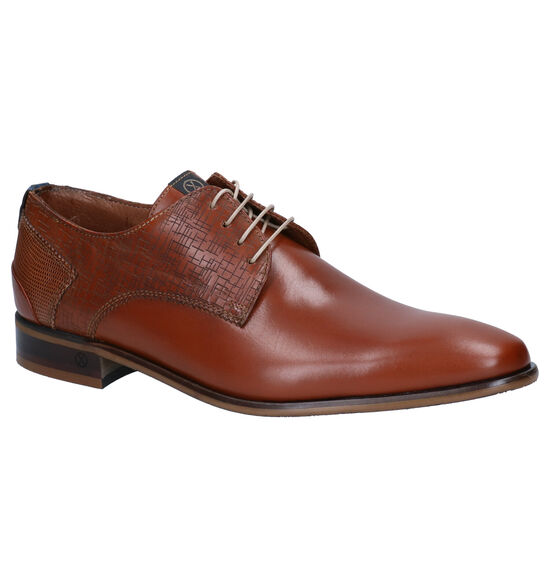 Ambiorix Eddy Chaussures habillées en Cognac
