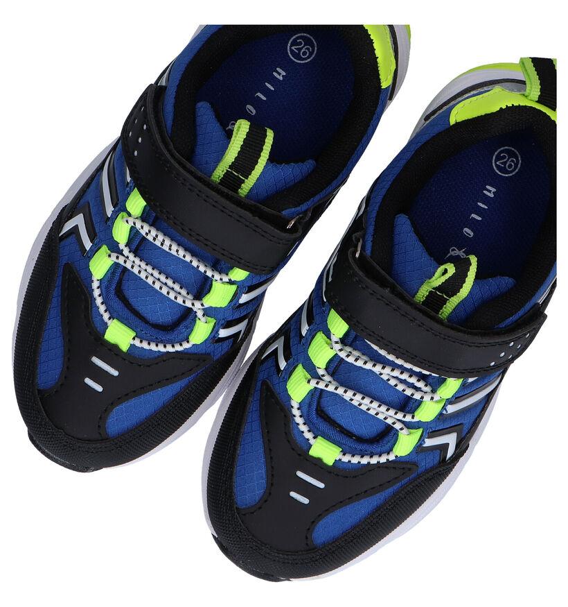Milo & Mila Blauwe Sneakers in stof (289350)