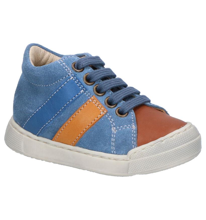 Falcotto Gazer Chaussures Hautes en Bleu en nubuck (275679)