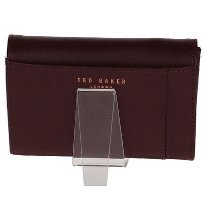 Ted Baker Porte-monnaies à rabat en Bordeaux en cuir (220385)