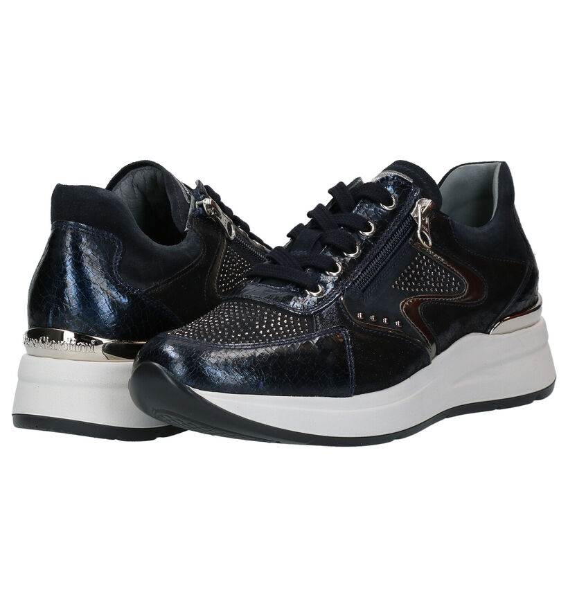 NeroGiardini Blauwe Sneakers in nubuck (278977)