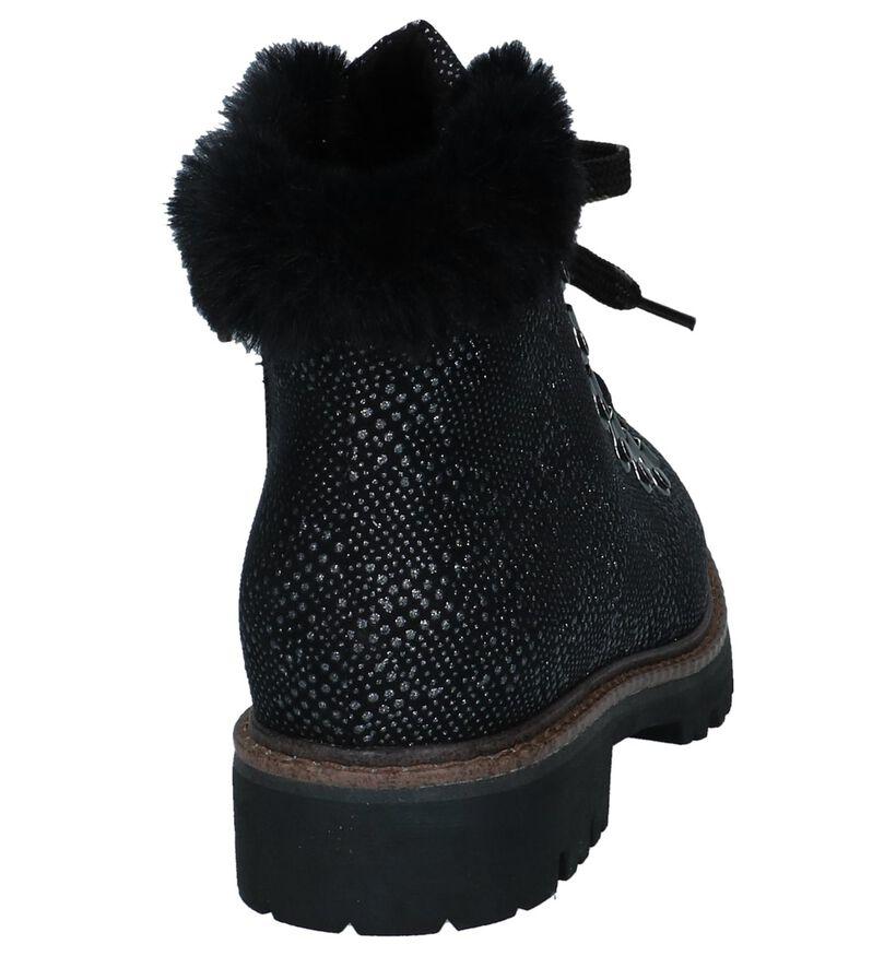 Marco Tozzi Bottillons plates en Noir en textile (226310)