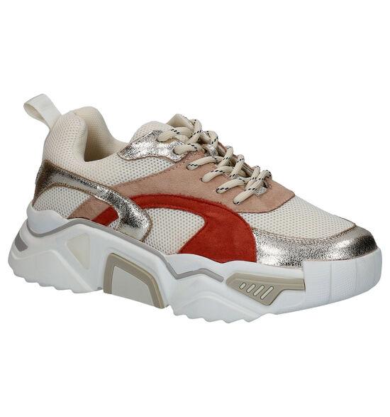 Vanessa Wu Ecru Sneakers