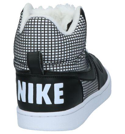 Nike Court Borough Baskets hautes en Noir en textile (205601)