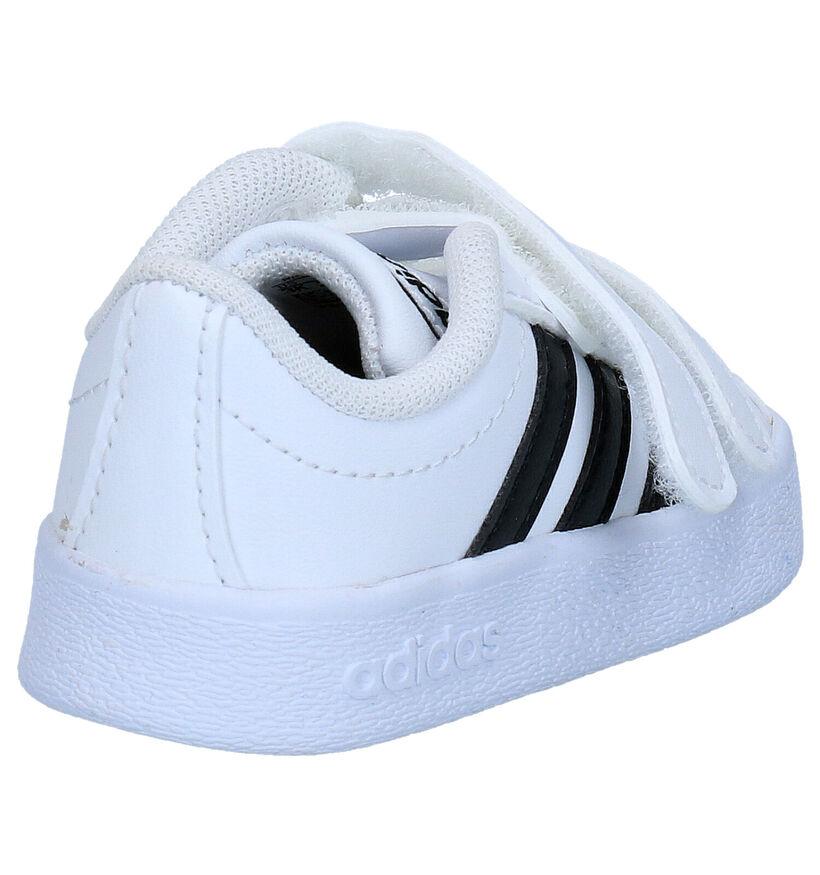 adidas VL Court 2.0 Witte Sneakers in kunstleer (273461)