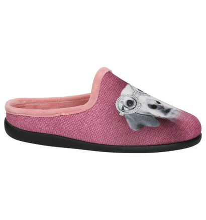 Roze Pantoffels Neles in stof (200889)