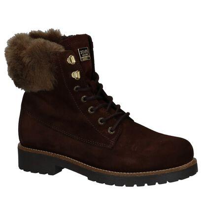 Scapa Donker Bruine Boots met Rits/Veter, Bruin, pdp
