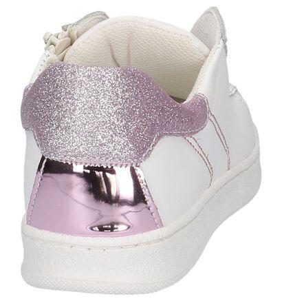 Witte Lage Geklede Sneakers Mkids in leer (209199)