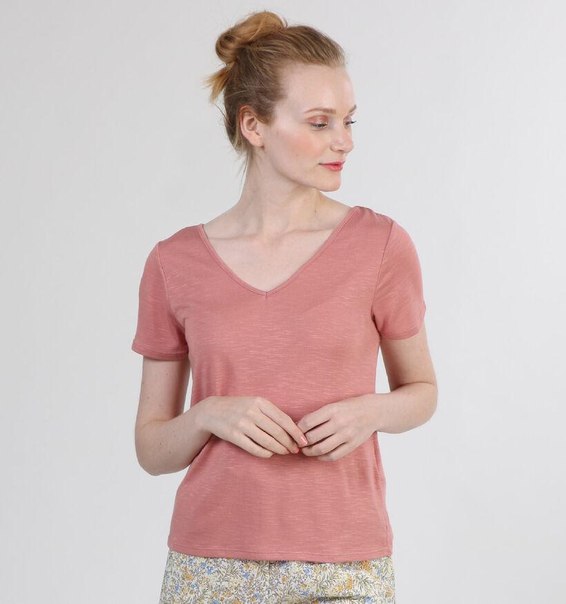 Vila Noel T-Shirt en Rose (301138)