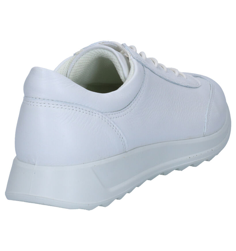 ECCO Chaussures à lacets en Blanc en cuir (269706)
