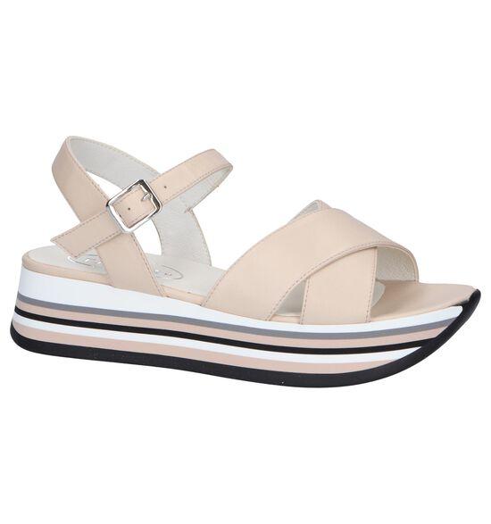 Tine's Sandales à talons en Beige clair