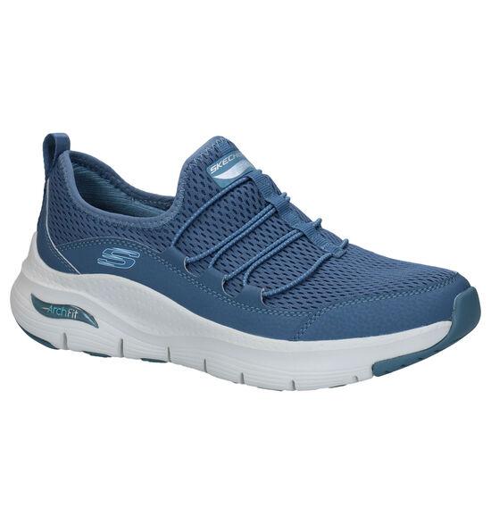 Skechers Arch Fit Blauwe Sneakers