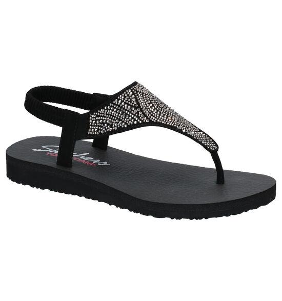Skechers Yoga Foam Zwarte Sandalen