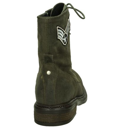Miss Rose Bottines en Vert kaki en nubuck (203047)