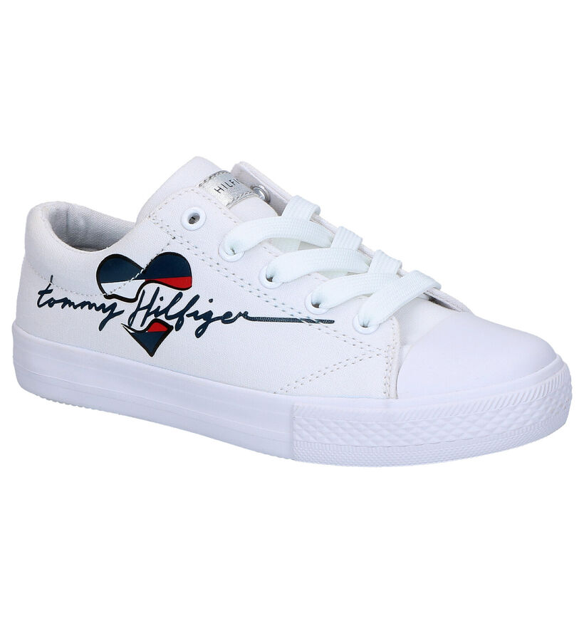 Tommy Hilfiger Witte Sneakers in stof (266558)