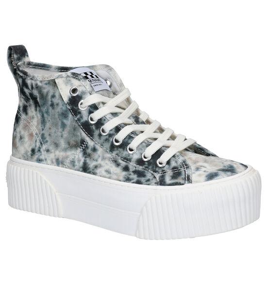 No Name Iron Mid Blauwe Sneakers
