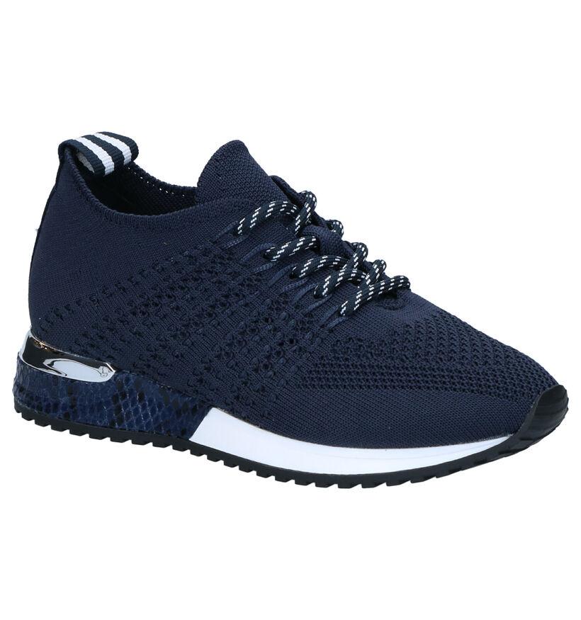 La Strada Blauwe Sneakers in stof (271005)
