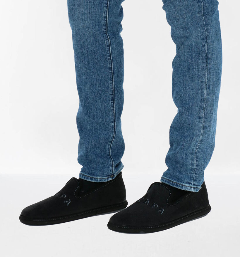 Scapa Zwarte Pantoffels in stof (281109)