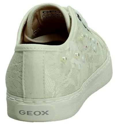 Geox Witte Veterschoen, Wit, pdp