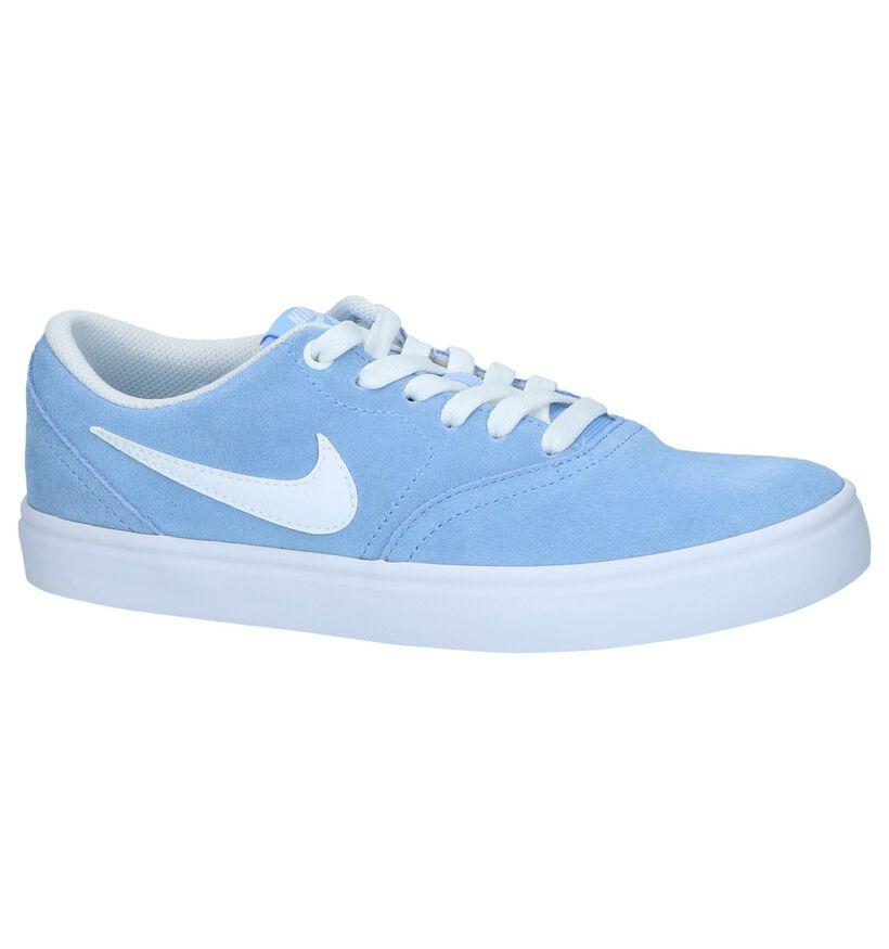 Nike SB Baskets basses en Bleu clair en nubuck (238345)