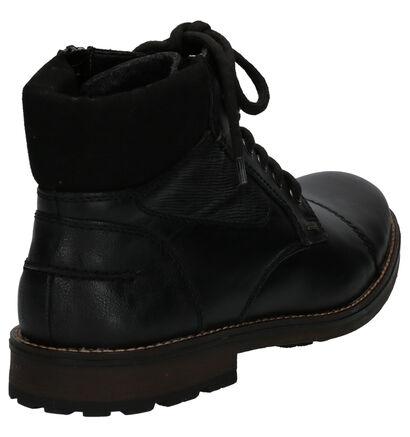 Rieker Boots Zwart in leer (260557)