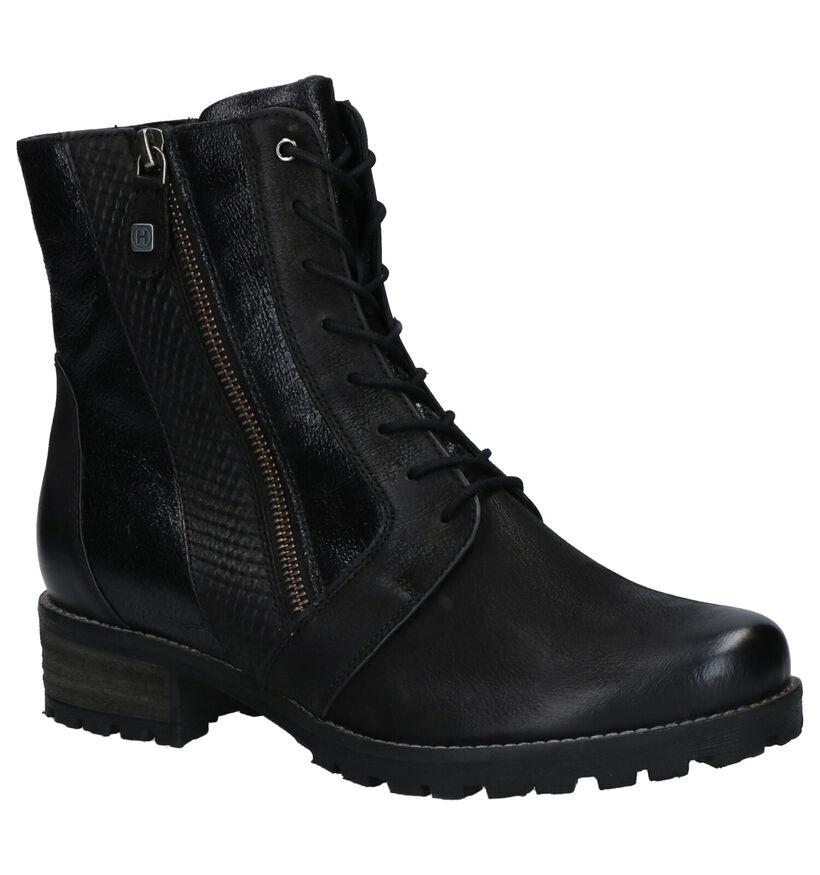 Helioform Zwarte Boots in leer (262414)
