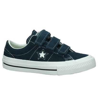 Converse One Star Baskets en Bleu en nubuck (191260)