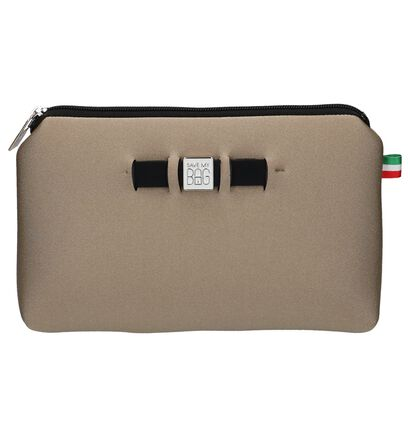 Beige Make-up Tasje Save My Bag Travel Pouch in stof (237128)