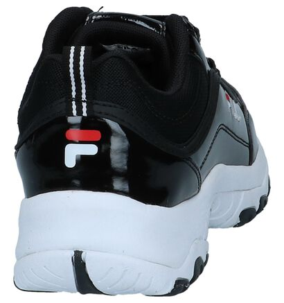 Fila Strada Zwarte Lage Sneakers in kunstleer (240837)