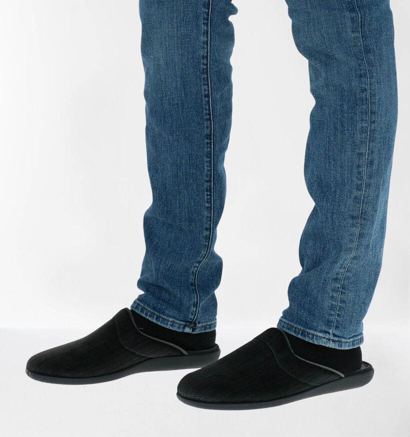 Comfort Plus Pantoufles ouvertes en Gris en textile (282082)