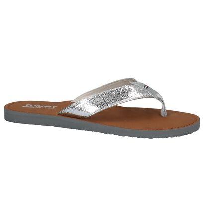 Zilveren Teenslipper Tommy Hilfiger Glitter Beach Sandal, Zilver, pdp