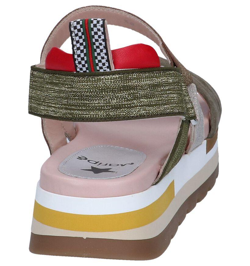 Maripé Sandales à talons en Multicolore en textile (248826)