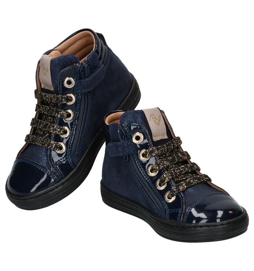 Lunella Chaussures hautes en Bleu en cuir (277759)