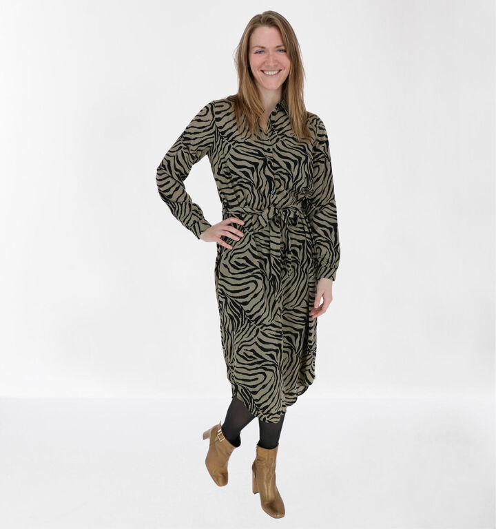 Vero Moda Lisa Robe Chemise en Marron/Noir