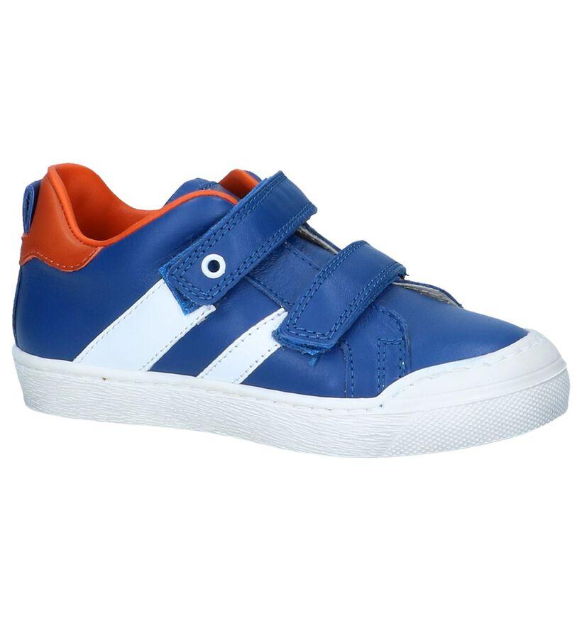 Blauwe Velcroschoenen STONES and BONES Rispo in leer (239827)