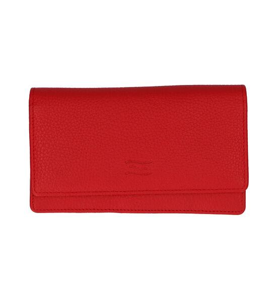 Crinkles Portefeuille à rabat en Rouge